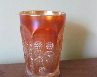 Vintage Carnival Glass Tumbler