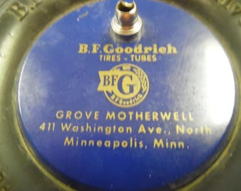 Goodrich rubber tire, BF Goodrich vintage tire, vintage rubber advertising tire, service station advertising tire