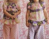 Sale Dreamy Baby - Peasant Pants Pajama PDF pattern  - sizes Newborn - 36 months and matching doll pattern