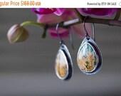 ON SALE Regency Rose Plume Agate Earrings, Turquoise Earrings, Sterling Silver Earrings - Self and Soul