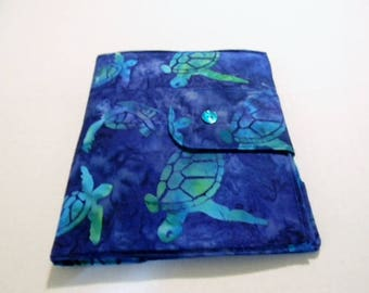 Sea Turtle Batik iPad Cover
