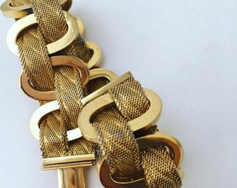 Vintage Christian Dior French Bracelet Gold Tone Link