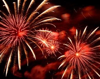 Fireworks  Photography - Fireworks -  Celebration - July 4th - Photo Art - Lopez Island - Celebrating the 4th - holliday - 16 X 24 - prints