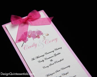 Simple Elegant Tiered Wedding Program, Stacked, Stepped, Layered, Booklet