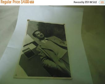 Ephemera & Books 50% Sale Vintage Black and White Photo Of Man Standing Outside In A Suit, collectable