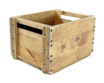 Wooden Box, Wood Crate, Solid Wood Bin, Wooden Tote, Keepsake Box, Memory Box, Wedding Card Box, Hope Chest, Toy Box, Wooden Storage Box