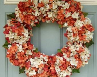 Fall Wreath - Wreath for Fall - Hydrangea Wreath for Fall