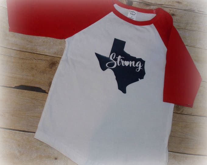 Texas Strong 4T shirt - Houston toddler shirt - Texas - Toddler Tee - 4T ready to ship - Texas Tee - Child's T-shirt - Texas Baseball top