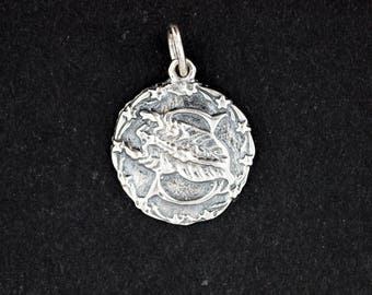 Zodiac Medallion Scorpio in Sterling Silver