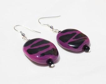 Purple Kazuri Earrings