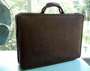 Vintage Hartmann luggage hard sided Briefcase with Dividers Laptop Bag Old-School