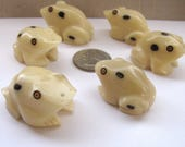 Rainforest Frog Bead, Tagua Nut Beads, Hand Carved Beads, EcoBeads, Natural Beads, Organic Beads, Vegetable Ivory Beads