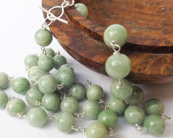 Real jade etsy chinese jade necklace chinese necklace aaa jade green jade sterling silver aloadofball Choice Image