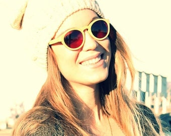 20% off SUMMER SALE Handmade Round Bamboo Eyeglasses prescription RX  Sunglasses Mjx1104 Takemoto