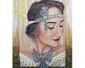 The 20s Reborn - Vintage Beauty Art - By Toronto Portrait Artist Malinda Prud'homme