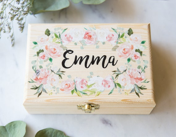 Flower girl or bridesmaids gift box jewelry box personalized like this item negle Images