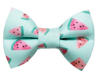 "Cat Bow Tie - ""The One in a Melon"" - Watermelon Print - Limited Edition"