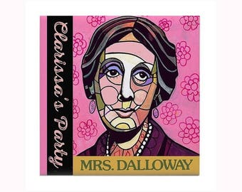 Adeline Virginia Woolf Book Lover Art Tile by artist Heather Galler  English writer stream of consciousness Mrs Dalloway