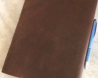 Handmade Leather Journal, Brown Kodiak Leather Journal
