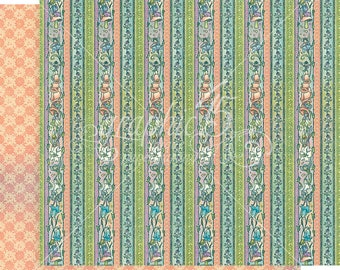 Graphic 45 Fairie Dust Daisy Chain Sheet, set of 2 sheets 12x12 double sided
