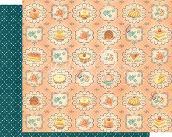 Graphic 45 Cafe Parisian Upper Crust, set of 2 sheets 12x12 double sided