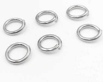 1000PCS 316L Stainless Steel 3mm/ 4mm/ 5mm/ 6mm/ 7mm Round Open Jump Rings Wholesale