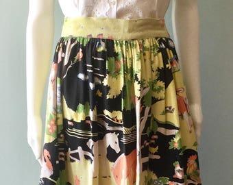 Extremely rare original 1940s Novelty Print Farm Animal Skirt