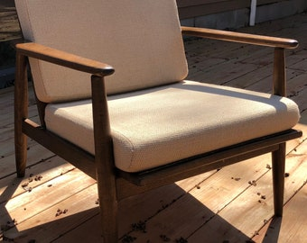 Vintage Walnut Baumritter Lounge Arm Chair Mid Century Modern Danish American -3