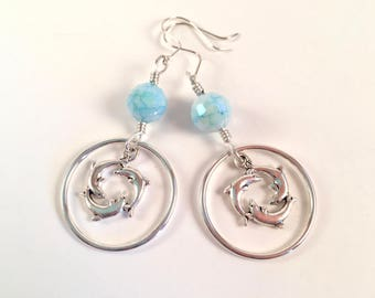 Swimming Dolphins Earrings