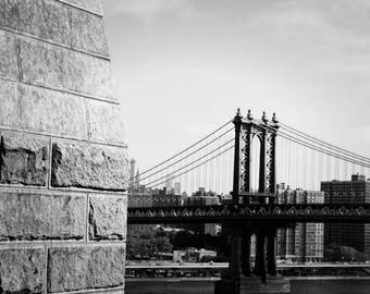 View of the Manhattan Bridge, New York City Photography, NYC Bridges