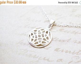 SALE Necklace, Silver Necklace, Celtic Necklace, Celtic Knot, Handmade Necklace, Irish Necklace, Bridesmaid Necklace, Bridesmaid Gift, Gift