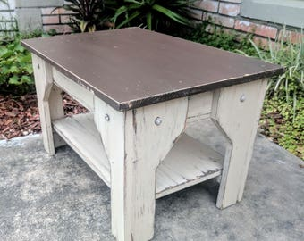 Rustic Indoor Table, Coffee Table, Farmhouse Furniture, End Table, Side Table