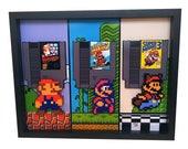 Super Mario Bros Nintendo 8 Bit Art Video Game Art Nintendo Art 3D Art Super Mario Bros 2 Super Mario Bros 3 Print Mario Bros NES Cartidge