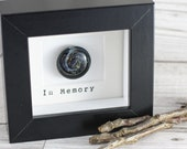 Framed Galaxy Stone Memorial Decor, Pet Memorial Frame, Personalised Remembrance Gift, Ashes Glass, Opal Gemstone Galaxy Keepsake