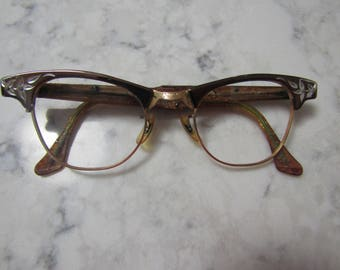 Vintage 1950's Ladies Womens Eye Glass Glasses Frames Spectacles