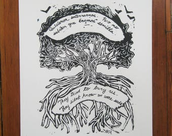 Semilla Print - They Tried To Bury Us, They Didn't Know We Were Seeds