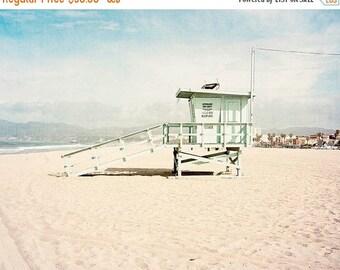 SALE California Wall Art, Beach Photography, Venice Beach, Lifeguard Tower, Large Wall Art, Beach Decor, Beach Art Coastal Wall Art, Los Ang