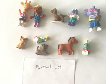 Lot of 10 Polly Pocket Animal Figures