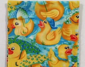 On Sale Fabric Squares Charm Pack Yellow Duckies Cotton Fabric Squares 5 Inch Craft Supplies Sewing Supplies Quilting Supplies