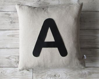 Letter Cushion, Home Decor, Cushion, Initial, Letters, Fabric, Wedding, Linen, Handmade, Free Postage