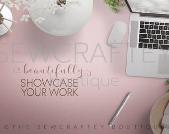 Feminine Desktop Stock Photo | Styled Stock Photography | Product Mockup | Styled Scene | Digital Image | High Res File