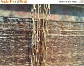 SALE NEW Victorian Style High Quality Large stamped design link Matte brushed gold plated plated 17.5 x 6 elongated oval link chain