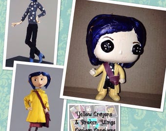 Coraline & Veronica Mars Custom Pops for Tori