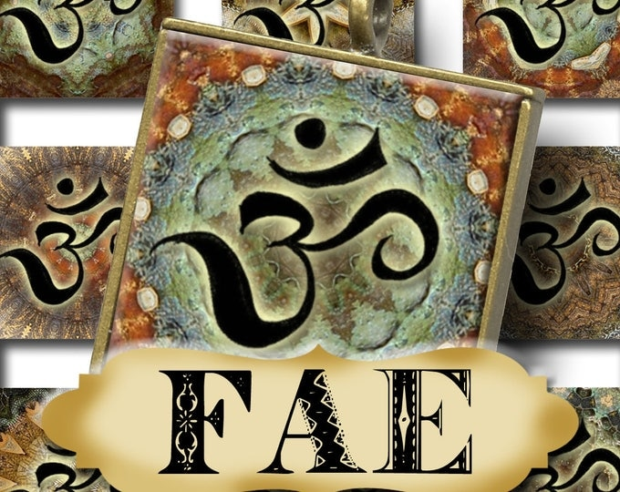 FAE OM•1x1 Rustic Square Images•Printable Digital Images•Cards•Gift Tags•Stickers•Magnets•Digital Collage Sheet