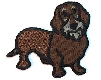 Wirehaired Dachshund Iron on Patch No Name