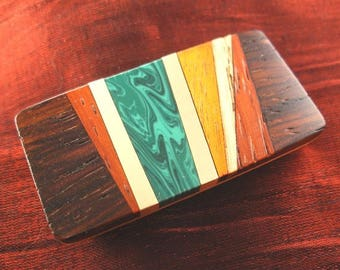 Dad Gift for Father Christmas Gift, Inlaid Wood Money Clip, Father Gift for Dad Christmas Gift MC389-T