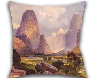 Toss Pillow, Moran Valley of the Bubbling Waters, Utah, Throw Pillow, Decorative Pillow, Accent Pillow, Pillow Cover