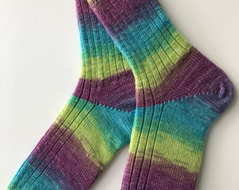 Women's Knitted Wool Socks, Opal , Surprise