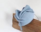 Mini Hat-Button-Fascinator-Wool Felt-Pale Blue