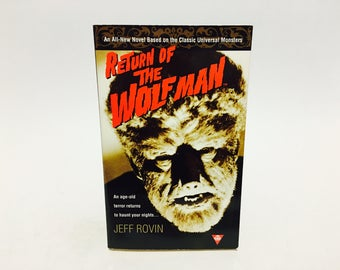 Vintage Horror Book The Return of The Wolf Man by Jeff Rovin 1998 Paperback